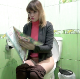 A blonde, Eastern-European girl sits down on a toilet, pages through a magazine, and deep plops are heard as she pushes and grunts. Presented in 720P HD. 107MB, MP4 file. Over 5 minutes.